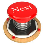 The red button, the next, 3d concept. Isolated on white background Royalty Free Stock Images