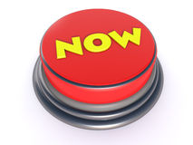 Red button now. Red button and text now Royalty Free Stock Photo