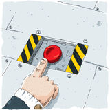 Red Button Push Royalty Free Stock Image