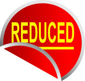 Red Button Reduced Royalty Free Stock Photos