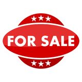 Red button with stars for sale Stock Photography