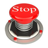 The red button, stop, 3d concept isolated. On white background Royalty Free Stock Image