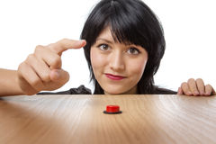 The red button Stock Image