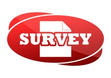 Red button survey Royalty Free Stock Photos