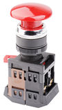 Red button switch isolated Stock Image