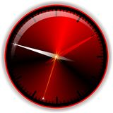 Red button time Royalty Free Stock Image