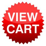 Red button view cart. Vector icon Royalty Free Stock Photo