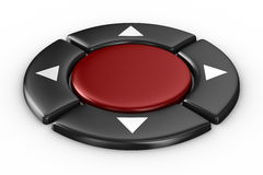 Red button on white background Royalty Free Stock Photos