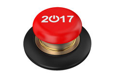 2017 Red Button. On white background Stock Photo