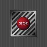 Red button with the word stop. Vector eps 10 Stock Image