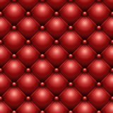 Red buttoned leather. Seamless red buttoned leather upholstery texture Stock Photography