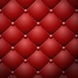 Red buttoned leather upholstery vector texture Stock Images