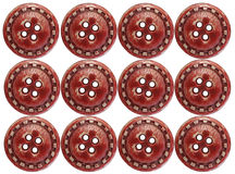 Red Buttons. Twelve red buttons isolated over a white background Royalty Free Stock Photo
