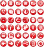 Red buttons Royalty Free Stock Photos