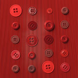 Red buttons Stock Photography