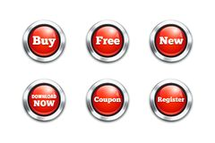 Red buttons Stock Photo