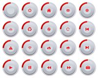 Red buttons Stock Images