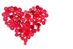 Red buttons in shape of heart Royalty Free Stock Photos