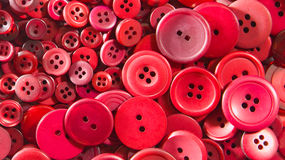 Red buttons - small and large. Royalty Free Stock Photography