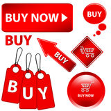 Red buy set Royalty Free Stock Photos