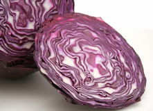 Red Cabbage. Some fresh red cabbage on white background royalty free stock image
