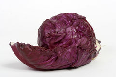 Red cabbage. On a white background, isolated Stock Photo