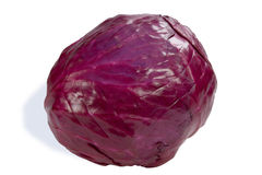 Red cabbage. Isolated on white, clipping path included Stock Image
