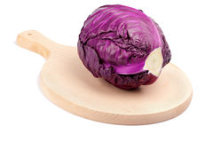Red cabbage. Isolated on white background Royalty Free Stock Photos