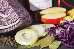Red cabbage Royalty Free Stock Photography
