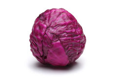 Red cabbage. On white background Stock Photo