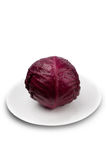 Red cabbage. Fresh red red cabbage on a plate Royalty Free Stock Photo
