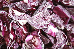 Red cabbage. Closeup of a cut red cabbage Royalty Free Stock Photo