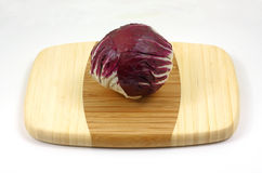 Red cabbage angle Royalty Free Stock Photos