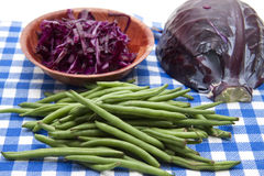 Red cabbage and beans Royalty Free Stock Photo