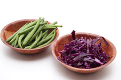 Red cabbage and beans Stock Photos