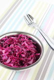 Red cabbage in the bowl Royalty Free Stock Photo