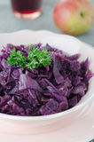 Red Cabbage Braised With Apples Close Up Stock Images
