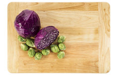 Red Cabbage and Brussel Sprouts Royalty Free Stock Photo