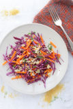 Red Cabbage and Carrot Slaw Royalty Free Stock Photo