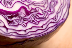 Red cabbage close up. Selective focus Stock Photo