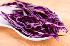 Red cabbage close up. Selective focus Stock Image