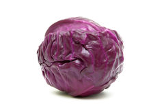 Red cabbage closeup isolated on white background Stock Photos