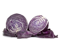 Red cabbage cut Royalty Free Stock Images