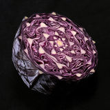 Red Cabbage Cut in Half Royalty Free Stock Image