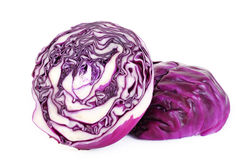 Red cabbage cut in half Stock Image