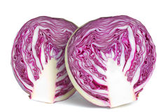 Free Red Cabbage Halves Over White Stock Image - 7269351