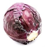 Red Cabbage isolated Royalty Free Stock Photography