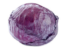 Red Cabbage Isolated on White Stock Images