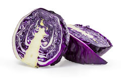 Red cabbage isolated. On white Stock Photography