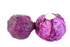 Red cabbage isolated on white Royalty Free Stock Images